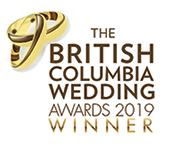 BC Wedding Award winner 2019